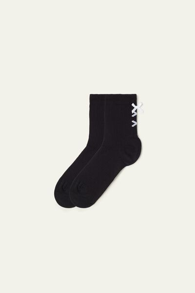 Short Worked Cotton Socks