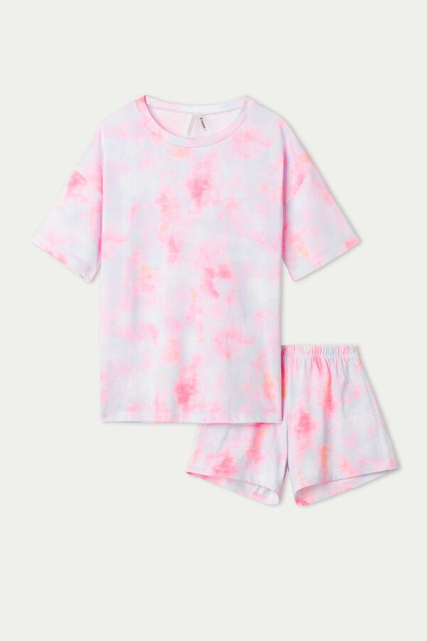Girls' Tie-Dye Print Short Pyjamas