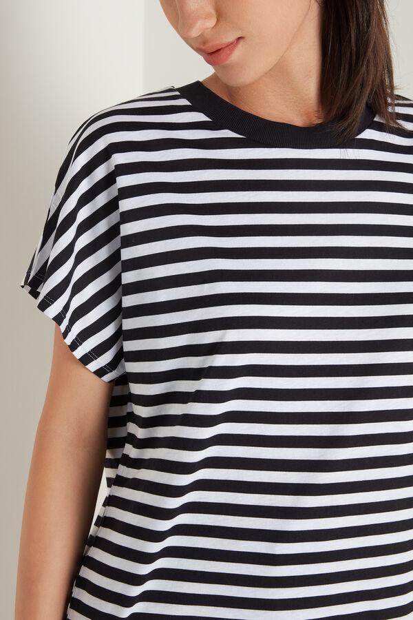 Cotton T-shirt with Kimono Sleeve