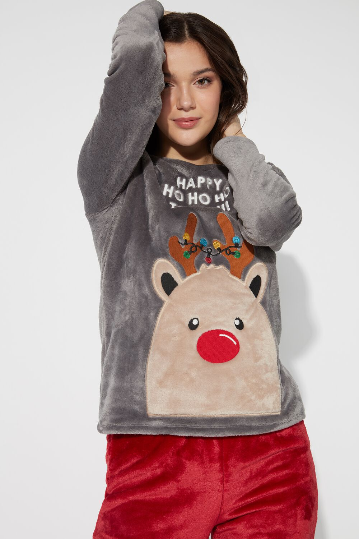 Long Reindeer Pajamas