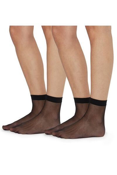 2 X 20 Den Appearance Sheer Short Socks