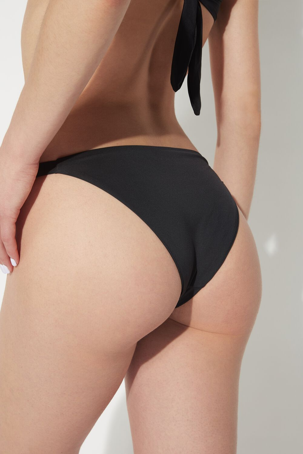 Plain-Coloured Bikini Bottoms with Adjustable Sides