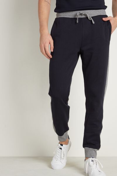 Two-Tone Long Sweatpants