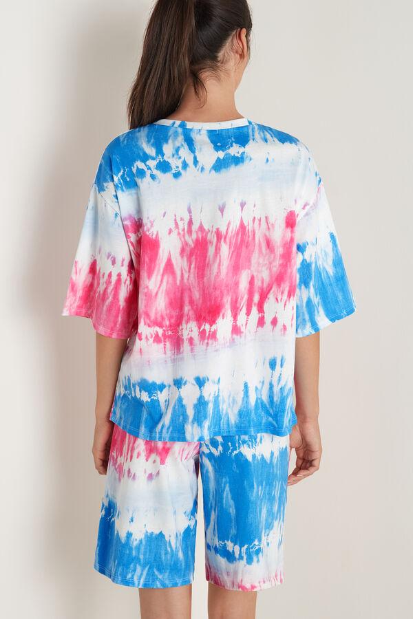 "Oversized ""Bella Vita"" Tie-Dye Short Pyjamas"