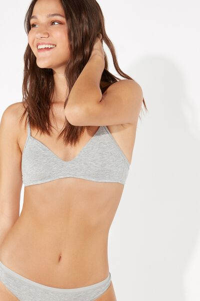 Lisbon Non-Wired Triangle Bra in Cotton