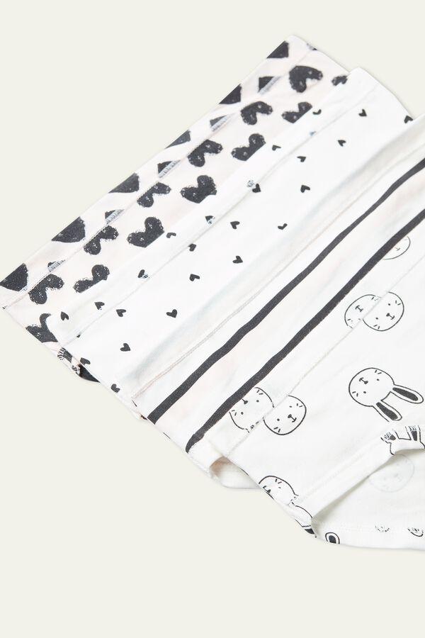 Baumwollslips mit Musterprint im 4er-Pack