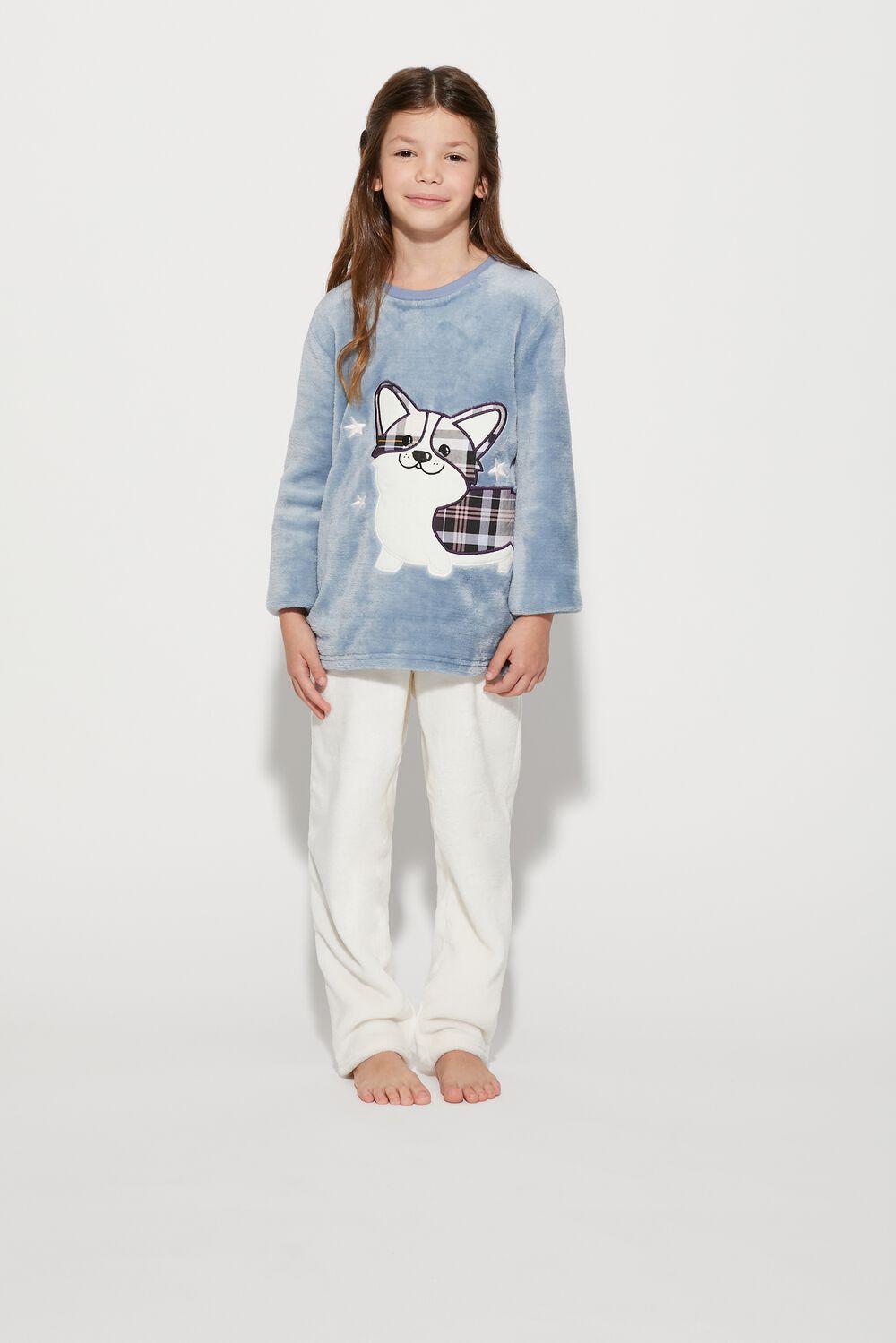 Long Dog Fleece Pyjamas