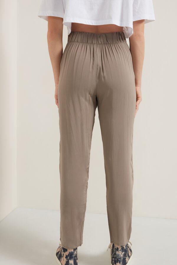 Pantalón de Chándal de Tela Ajustable con Bolsillos